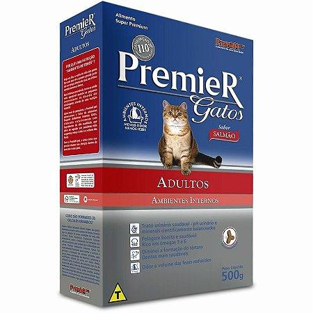 Ração Premier Gatos Adultos Ambientes Internos Salmão