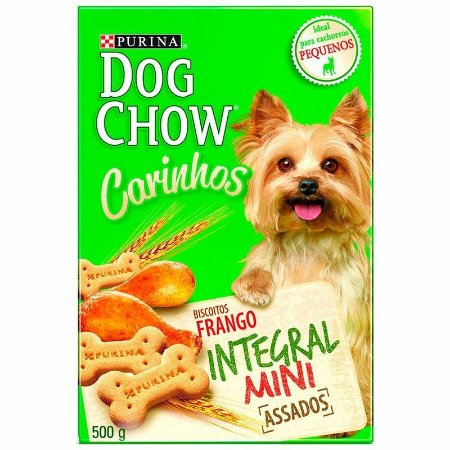 Biscoito Petisco Nestlé Purina Dog Chow Carinhos Integral Mini