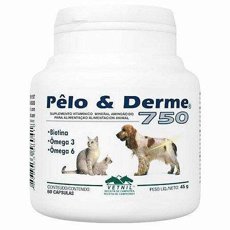 Pelo e Derme 750 - 60 Cápsulas