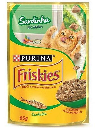 Ração Úmida para Gatos Adultos Friskies Sache Sardinha ao Molho 85g