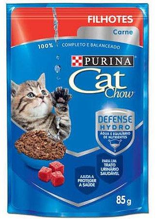 Ração Cat Chow Sache Filhotes Carne para Gatos 85g