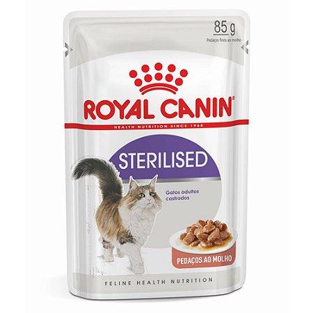 Ração para Gatos Adultos Castrados Royal Canin Sachê Feline Sterilised 85 g