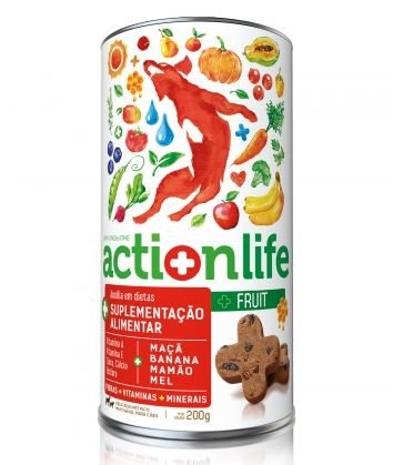 Petisco One by One Actionlife Fruit Suplementação Alimentar 200g