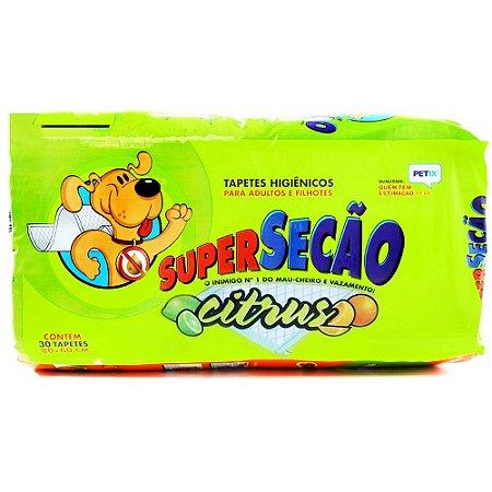 Tapete Higiênico Super Secão Citrus 30 Unidades - Petix