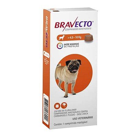 Antipulgas e Carrapatos Bravecto Comprimido para Cães de 4,5 a 10 kg