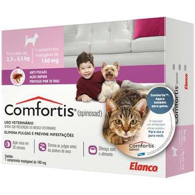 Antipulgas Comfortis para Cães de 2,3 a 4,5kg e Gatos de 1,4 a 2,8kg - Elanco