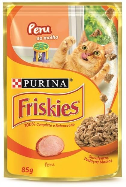 Ração Úmida para Gatos Adultos Friskies Sache Peru ao Molho 85g