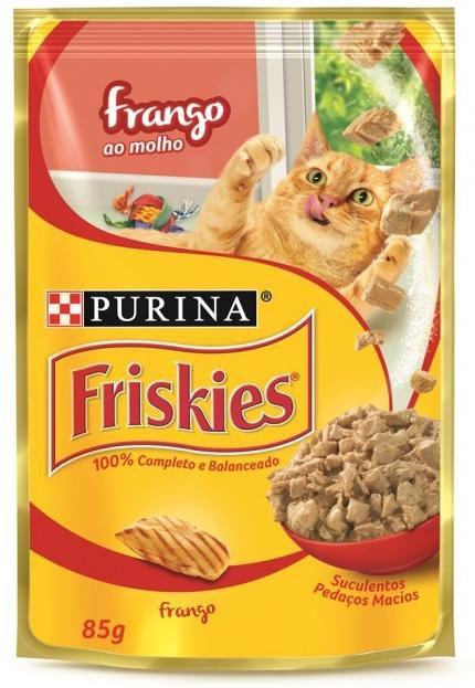 Ração Úmida para Gatos Adultos Friskies Sache Frango ao Molho 85g