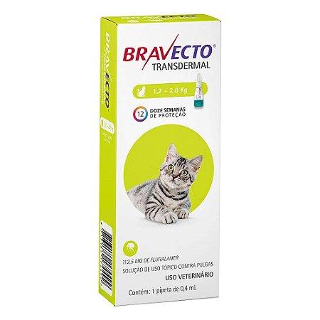 Antipulgas Bravecto Transdermal para Gatos de 1,2 a 2,8 kg