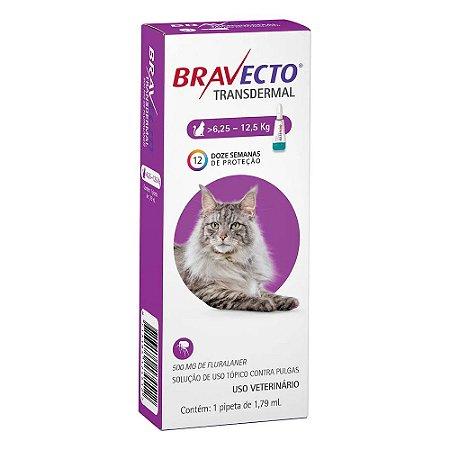 Antipulgas Bravecto Transdermal para Gatos de 6,25 a 12,5 kg