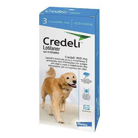 Antipulgas e Carrapatos Credeli Comprimido para Cães de 22 a 45kg - 3 comprimidos