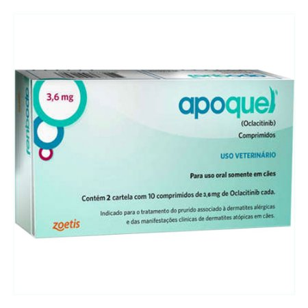 Zoetis - Apoquel 3,6 mg - 20 Comprimidos para Cães