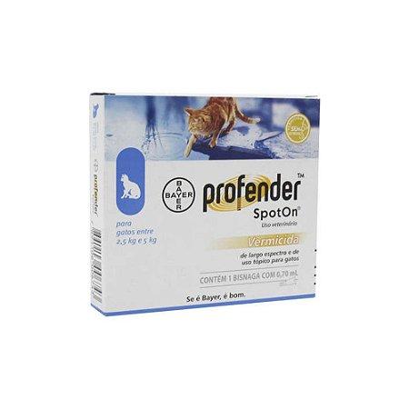 Profender SpotOn para Gatos entre 2,5 e 5 kg - Bayer