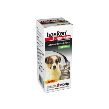 Basken Suspensão 20 mL Cães e Gatos Filhotes - Konig
