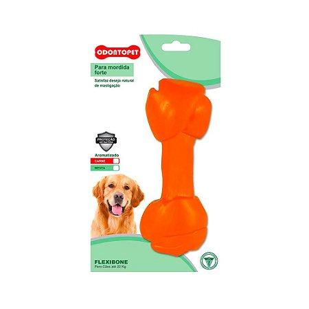 """Odontopet Flexibone """"Osso Nó"""" para Cães até 22 kg - Menta"""