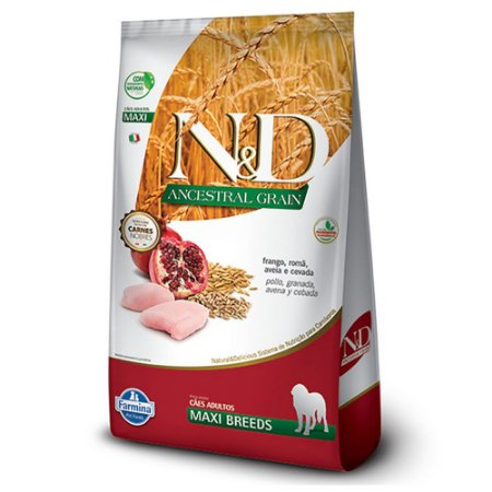 Ração para Cães Adultos Farmina N&D Ancestral Raças Grandes Frango 10,1kg