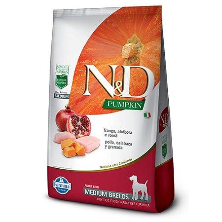 Ração para Cães Adultos Farmina N&D Pumpkin Raças Médias Frango