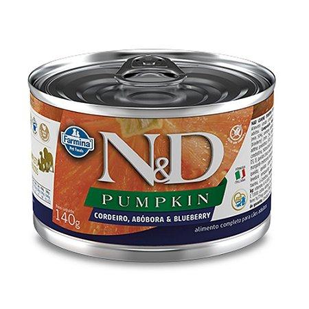 Ração para Cães Adultos Farmina N&D Pumpkin Lata Cordeiro 140g