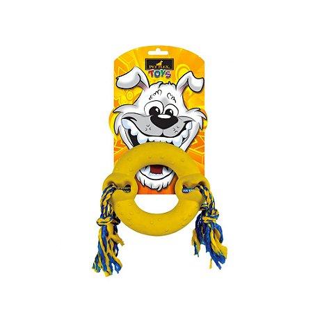 Pet Flex Toys Brinquedo Argola com Corda Pequeno