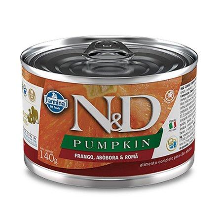 Ração para Cães Adultos Farmina N&D Pumpkin Lata Frango 140g