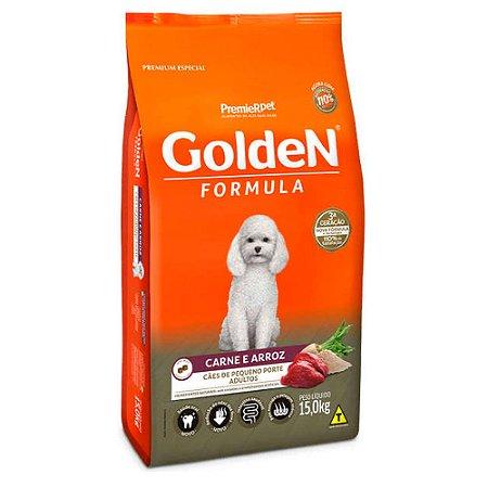 Ração para Cães Adultos Golden Formula Raças Pequenas Carne e Arroz
