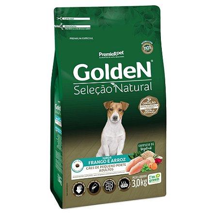 Ração para Cães Adultos Golden Seleção Natural Raças Pequenas Frango e Arroz