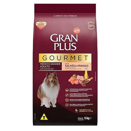 Ração para Cães Adultos Gran Plus Gourmet Salmão e Frango 15kg