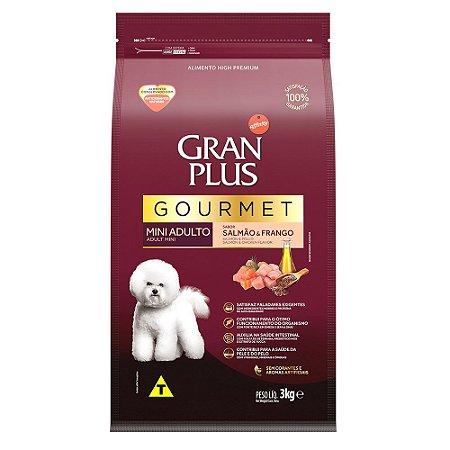 Ração para Cães Adultos Gran Plus Gourmet Raças Pequenas Salmão e Frango