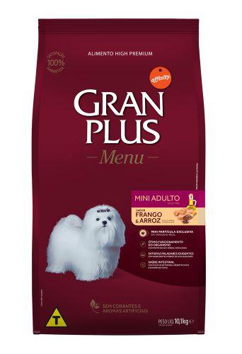 Ração para Cães Adultos Gran Plus Raças Pequenas Frango e Arroz