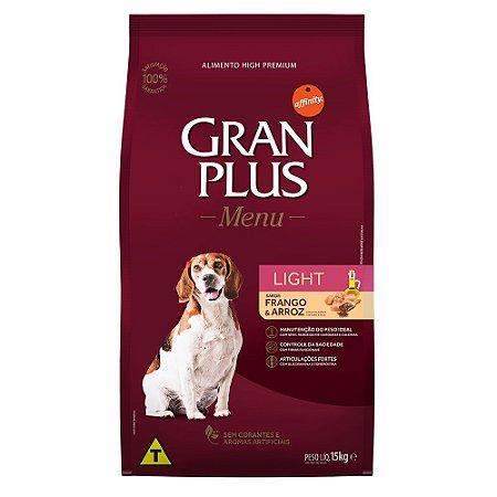Ração para Cães Adultos Gran Plus Light Frango e Arroz 15kg