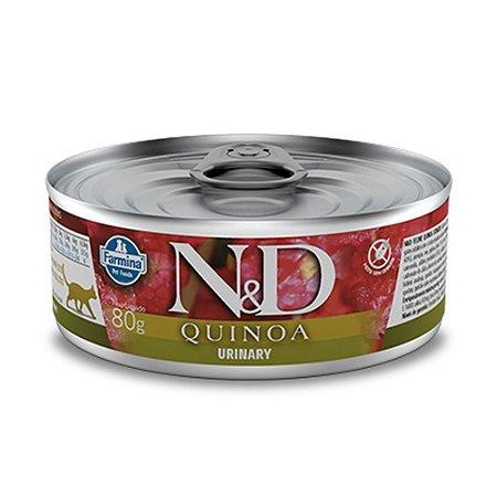 Ração para Gatos Adultos Farmina N&D Quinoa Lata Urinary Pato 80g