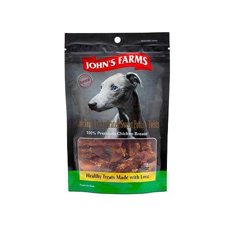 Johns Farms sabor Peito de Frango com Batata Doce 100g