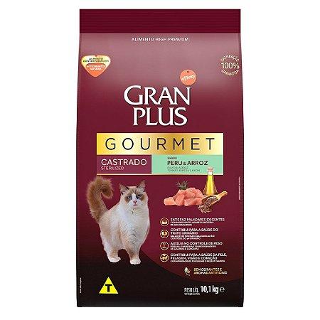 Ração para Gatos Adultos Gran Plus Gourmet Castrado Peru e Arroz