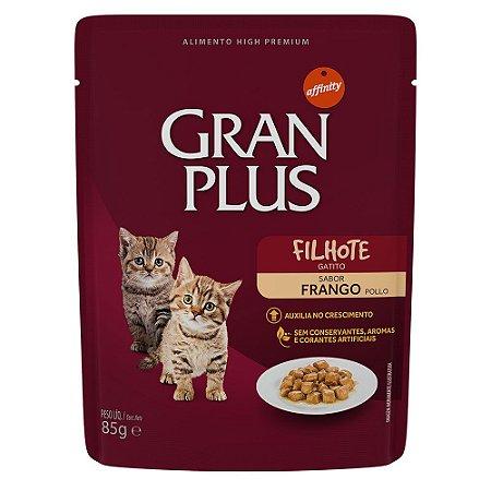 Ração para Gatos Filhotes Gran Plus Sache Frango 85g