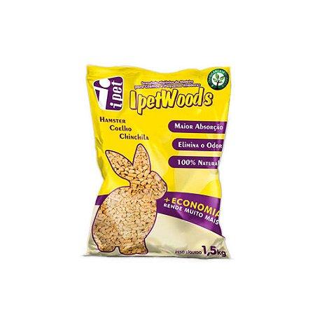 IpetWoods para Hamster, Coelho e Chinchila - 1,5 kg