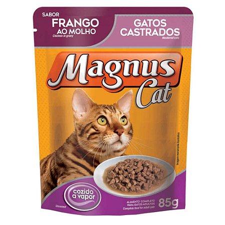 Ração Úmida para Gatos Adultos Magnus Sache Castrados Frango ao Molho 85g