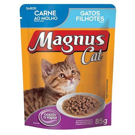 Ração Úmida para Gatos Filhotes Magnus Sache Carne ao Molho 85g
