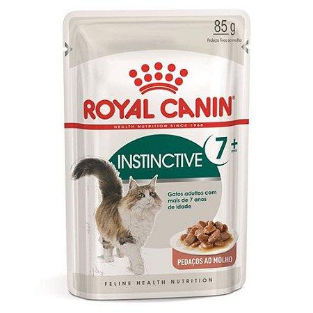 Ração Úmida para Gatos Idosos Royal Canin Sachê Instinctive +7 85g