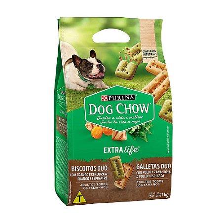 Dog Chow Biscoito Duo 1kg