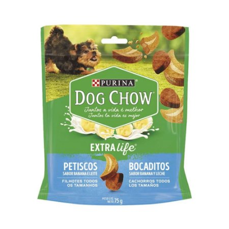 Dog Chow Bocaditos Filhotes sabor Banana e Leite 75g