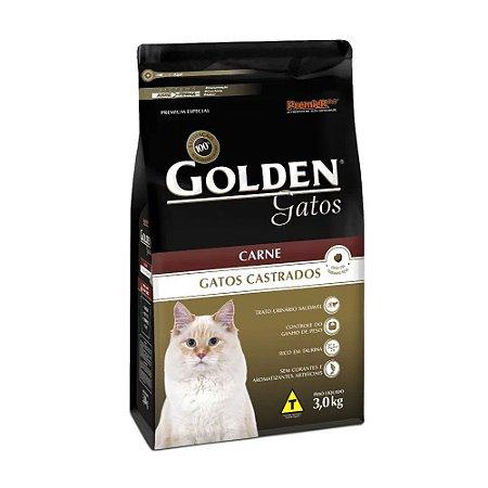 Golden para Gatos Adultos Castrados sabor Carne 3kg