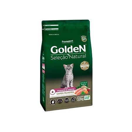Golden Seleção Natural para Gatos Filhotes sabor Frango e Arroz 3kg