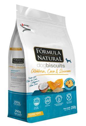Biscoito para Cães Fórmula Natural Abóbora, Coco e Quinoa Pequeno Porte 250g