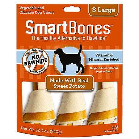 SmartBones Osso 3 Large sabor Frango com Batata Doce 340g