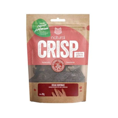 Natural Crisp para Gatos sabor Iscas Bovinas 20g