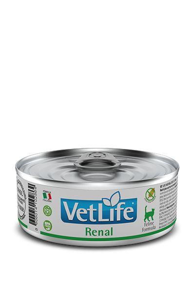 Ração Úmida para Gatos Vet Life Renal Lata 85g