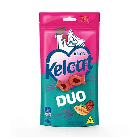 Kelcat Duo Snacks para Gatos sabor Peixe e Fígado 40g