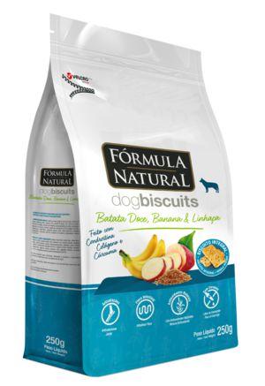 Biscoito para Cães Fórmula Natural Batata Doce, Banana e Linhaça 250g