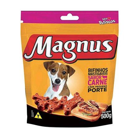 Magnus Bifinho Mastigável para Cães Adultos de Pequeno Porte sabor Carne 500g