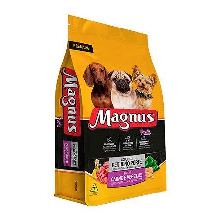 Magnus Petit para Cães Adultos de Pequeno Porte sabor Carne e Vegetais 3kg